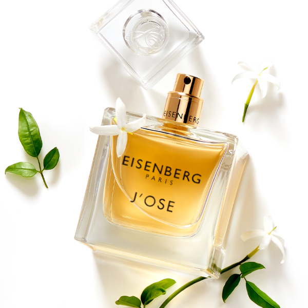eau de parfum for women with jasmine against a white background