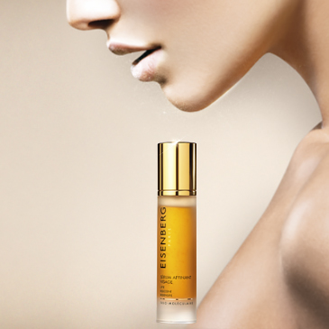 face serum with a face and lady's décolleté