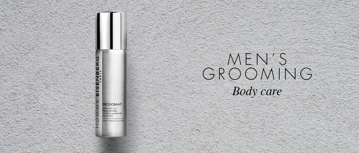 body care for men on a grey background
