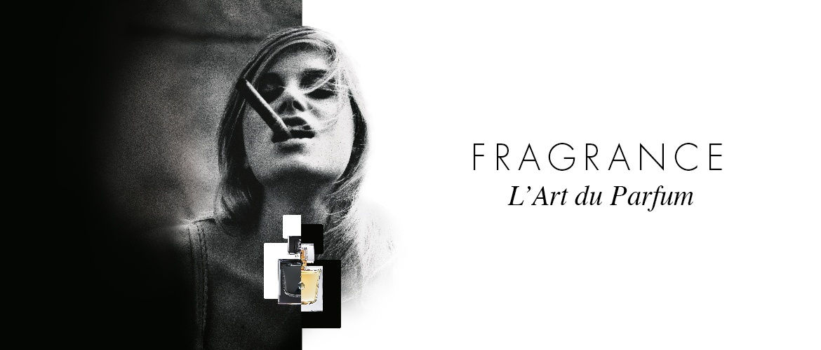 J'OSE EISENBERG perfume with a photo of a lady with a cigar