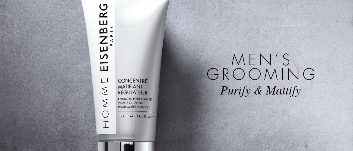 zoom on a mattifying cream for men
