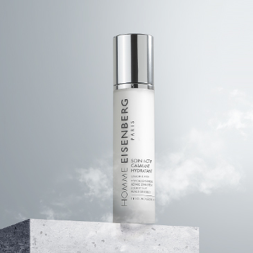 anti-pollution skincare for men with a grey sky background